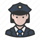 cop, officer, police, woman icon