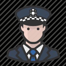 avatar, avatars, cop, man, police icon