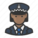 cop, police, scotland, woman, yard icon