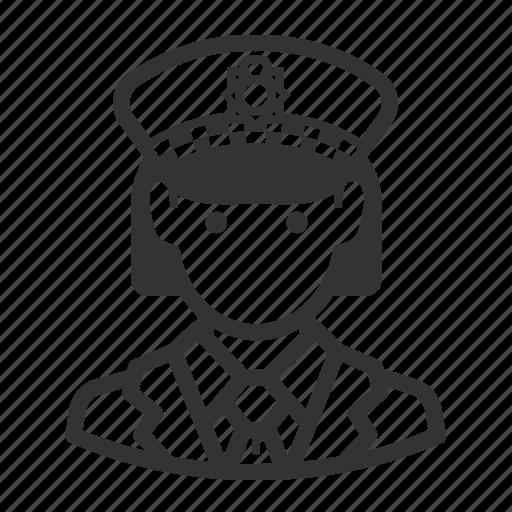 avatar, avatars, cop, police, woman icon