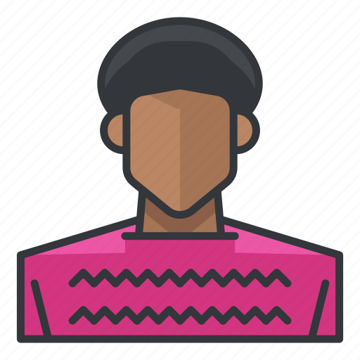 african, american, avatar, man, profile, user icon