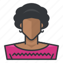 african, american, avatar, profile, user, woman icon