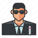 agent, avatar, k, man, profile, user icon