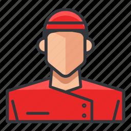 asian, avatar, chef, man, profile, user icon