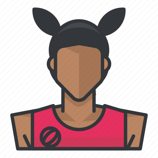 avatar, basketball, female, profile, user, woman icon