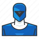 avatar, blue, power, profile, ranger, user icon
