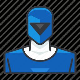 avatar, blue, power, profile, ranger, user icon