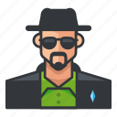 avatar, bounty, hunter, man, profile, user icon