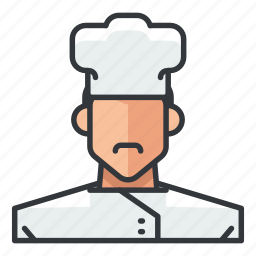 avatar, chef, male, man, profile, user icon