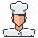 avatar, chef, female, profile, user, woman icon