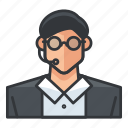 avatar, customer, male, man, profile, service, user icon