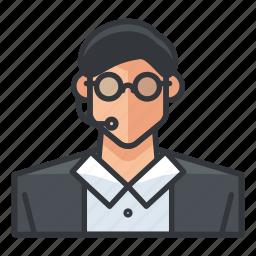 avatar, customer, male, man, profile, service, user icon