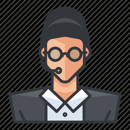 avatar, customer, female, profile, service, user, woman icon