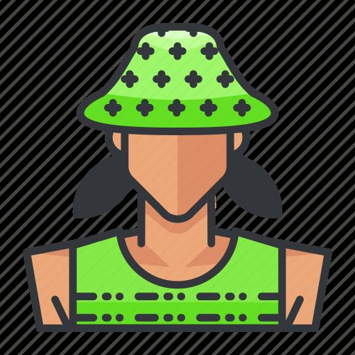 avatar, dancer, female, profile, user, woman icon