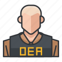 agent, avatar, dea, male, man, profile, user icon