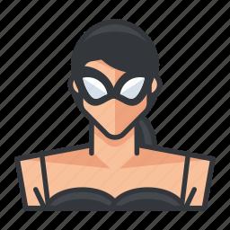 avatar, dominant, dominatrix, profile, user, woman icon