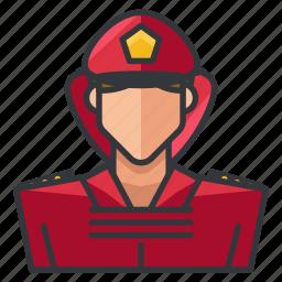 avatar, female, fighter, fire, profile, user, woman icon