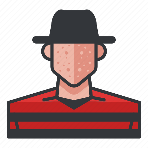 avatar, freddy, krueger, male, profile, user icon