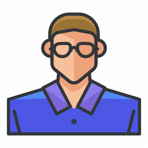 avatar, glasses, man, nerd, profile, user icon