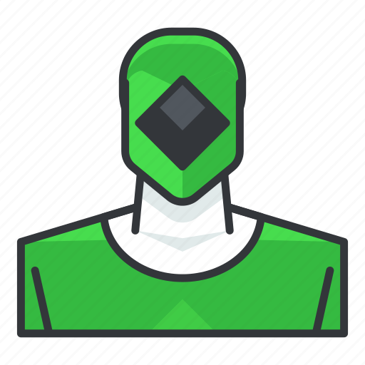 avatar, green, power, profile, ranger, user icon