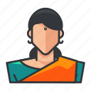 avatar, female, hindu, profile, religious, user, woman icon