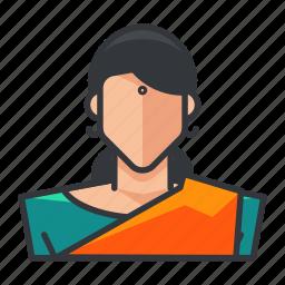 avatar, female, hindu, profile, religious, user, woman icon