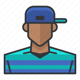 avatar, hip, hop, male, man, profile, user icon