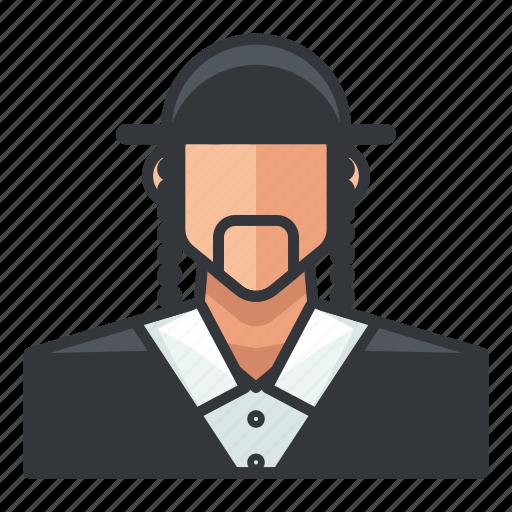 avatar, jewish, male, man, profile, user icon