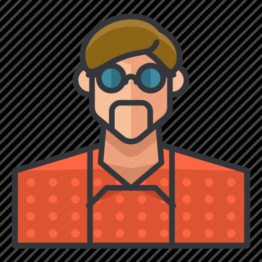 avatar, man, nerd, profile, user icon