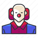 avatar, clown, killer, profile, user icon