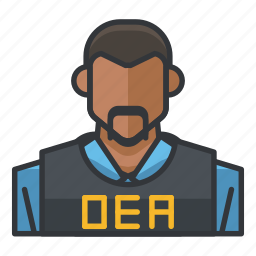 agent, avatar, dea, man, profile, user icon