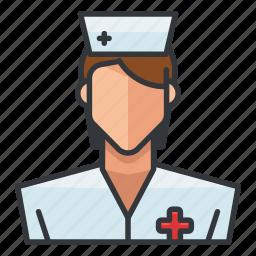 avatar, medical, nurse, profile, user, woman icon