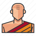 avatar, monk, profile, religious, user icon