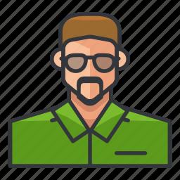 avatar, man, moustache, profile, user icon