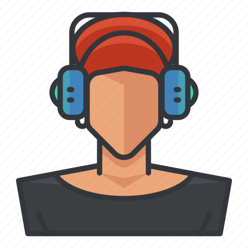 avatar, music, profile, user, woman icon