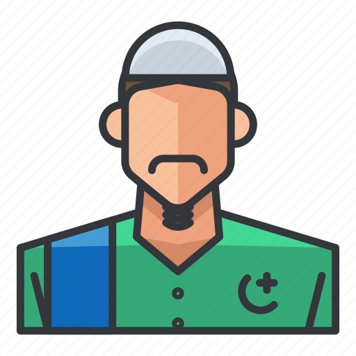 avatar, man, muslim, profile, user icon