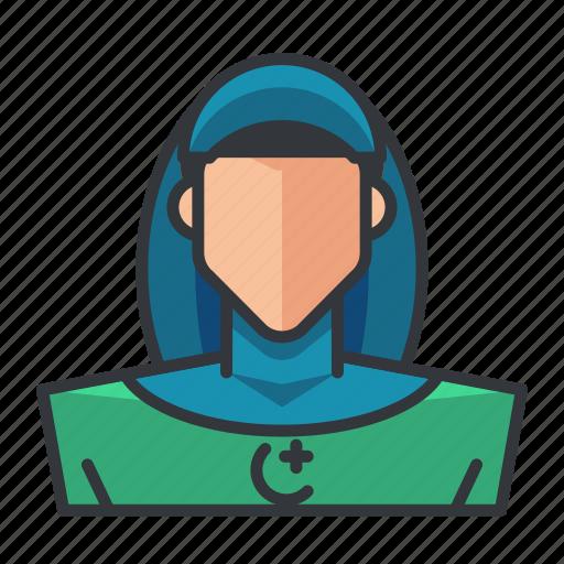 avatar, muslim, profile, user, woman icon