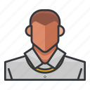 avatar, man, necklace, profile, user icon