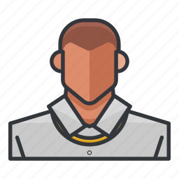 avatar, man, necklace, profile, user icon