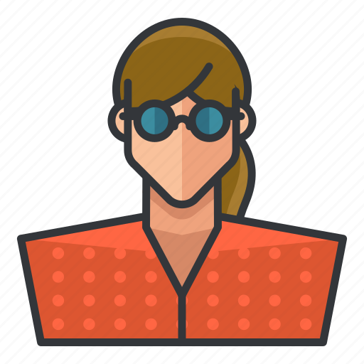 avatar, nerd, profile, user, woman icon
