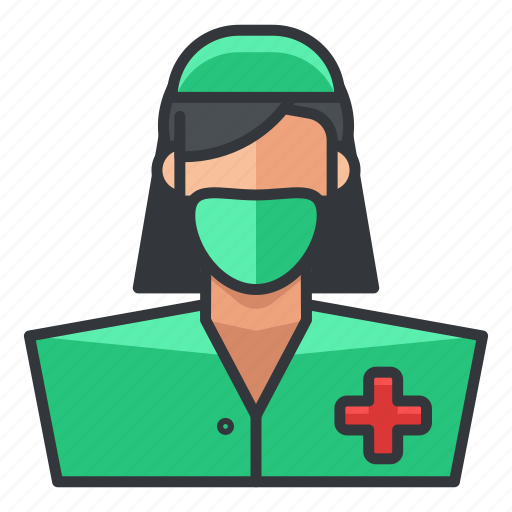 avatar, medical, nurse, profile, user, woman icon