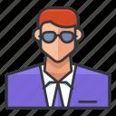 avatar, man, office, profile, suit, user