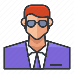 avatar, man, office, profile, suit, user icon