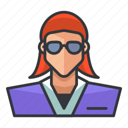 avatar, office, profile, suit, user, woman icon