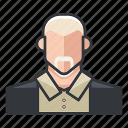 avatar, man, older, profile, user icon