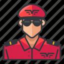 avatar, man, pilot, profile, user icon