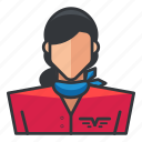 avatar, pilot, profile, user, woman icon