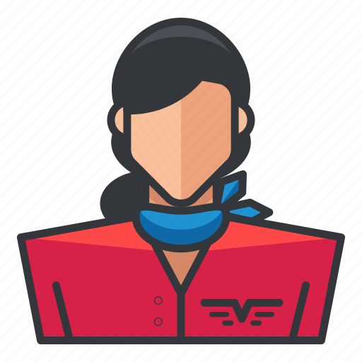 avatar, pilot, profile, user, woman icon
