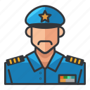 avatar, man, officer, police, profile, user icon