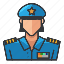 avatar, officer, police, profile, user, woman icon